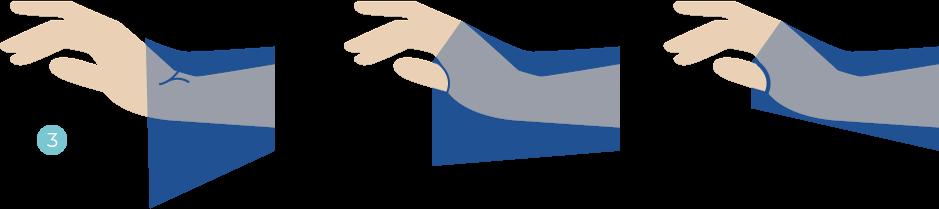 Valembal - Ajuter les poignée de la surblouse de protection jetable